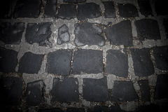 The road of black stones. Background. Toned Royalty Free Stock Photo