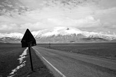 On the road - black and white. On the road (black and white Stock Photos