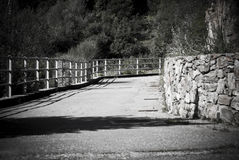 Road in black and white Royalty Free Stock Photos