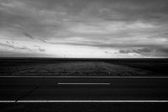 Road Black and White Royalty Free Stock Images