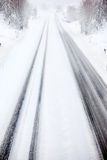 Road Blizzard Royalty Free Stock Photos