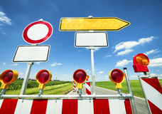 Road block Royalty Free Stock Images