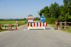 Road block Stock Image