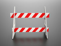 Road block barrier Royalty Free Stock Photo