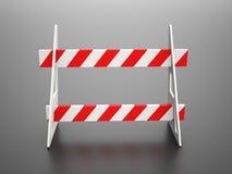 Road block barrier vector illustration