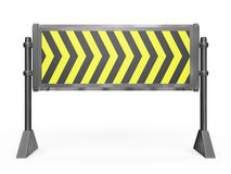 Road Block Barrier Stock Image