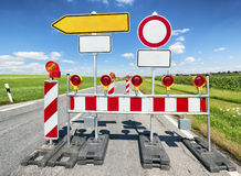Road block Stock Images
