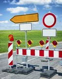 Road block Stock Photography