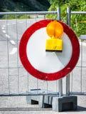 Road block Stock Image