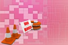 Road block sign Illustration Royalty Free Stock Images