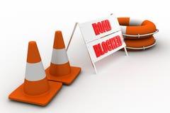 Road block sign Royalty Free Stock Photos