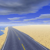 Road and blue sky Royalty Free Stock Photo