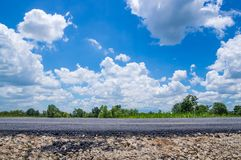 Road and blue sky. Stock Photography