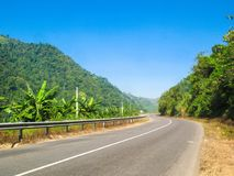 Road with blue sky stock image