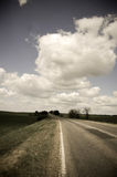 Road and blue sky in Odessa Royalty Free Stock Image