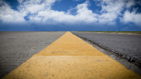 Road with Blue Sky, Perspective View Stock Image