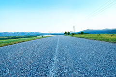 Road and blue sky Royalty Free Stock Image