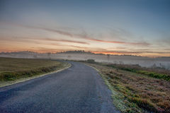 Road and blue sky Stock Photography