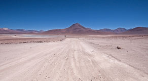 Road into the Bolivian Desert Royalty Free Stock Photo