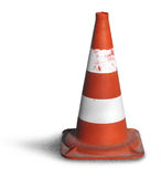 Road bollard traffic cone. Isolated on white background royalty free stock images