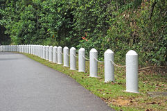 Road Bollards Royalty Free Stock Photos