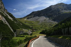Road from Bormio to Passo Stelvio Stock Photography