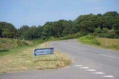 Road, Bornholm, Denmark Stock Photo