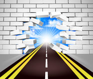 Road Breaking Wall Concept Stock Photography