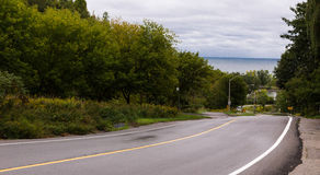 Road. Breathtaking road to the Lake Ontario, Toronto, Canada Royalty Free Stock Photo