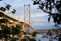 Road bridge across the Firth of Forth Stock Photos
