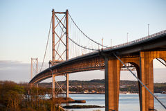 Road bridge across the Firth of Forth Royalty Free Stock Images