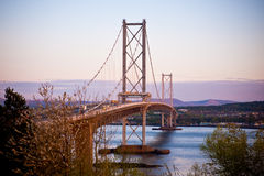 Road bridge across the Firth of Forth Royalty Free Stock Image