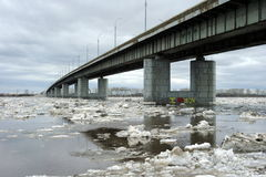 Road bridge across the river Stock Photography