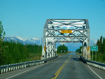 Road bridge in alaska Stock Photo