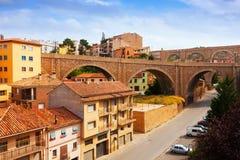 Road bridge and aqueduct in Teruel Stock Photo