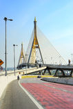 Road and Bridge in Bangkok Royalty Free Stock Photography