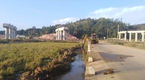 Road bridge conatructions. Highways constructions near Matara Sri Lanka Royalty Free Stock Image