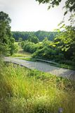 Road bridge. A bridge on a countryside road stock images