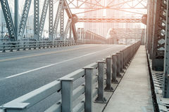 Road on the bridge Royalty Free Stock Images