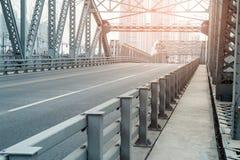 Road on the bridge Stock Image