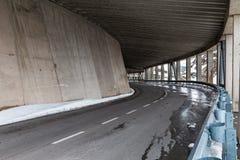 Road bridge at high altitude road Royalty Free Stock Image