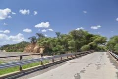 Road bridge in Kenya. Road bridge over empty river bed between Marigat and Lake Baringo in Kenya Stock Photo