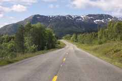 Road in the Lofoten Royalty Free Stock Images