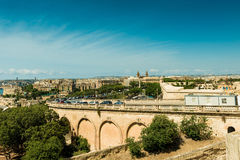 Road bridge  in Malta. Road bridge of Valletta in Malta from high Royalty Free Stock Images