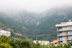 Road bridge near the Petrovac in Montenegro royalty free stock image