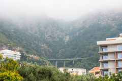 Road bridge near the Petrovac, Montenegro. Montenegro - A state in south-eastern Europe, on the Adriatic coast of the Balkan Peninsula Royalty Free Stock Photos