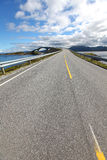 Road bridge over the fjord in Norway Royalty Free Stock Photography