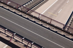 Road bridge over highways Royalty Free Stock Photos