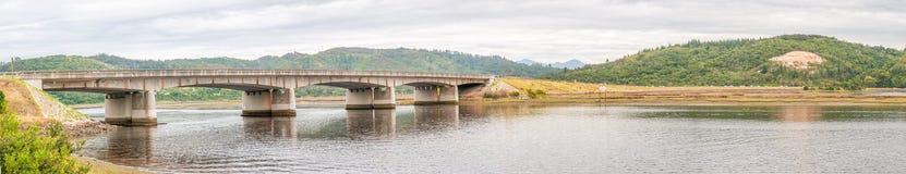 Road bridge over Knysna Lagoon panorama Stock Image