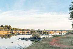 Road bridge over the Orange River at Upington. The road bridge over the Orange River at Upington, a town in the Northern Cape Province of South Africa stock photos